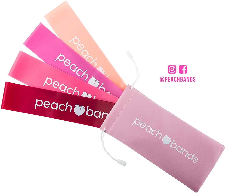 Peach Bands Lot de bandes de résistance pour les jambes et les fesses
