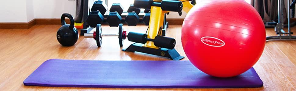 BalanceFrom Ballon d'exercice anti-éclatement et antidérapant avec pompe rapide