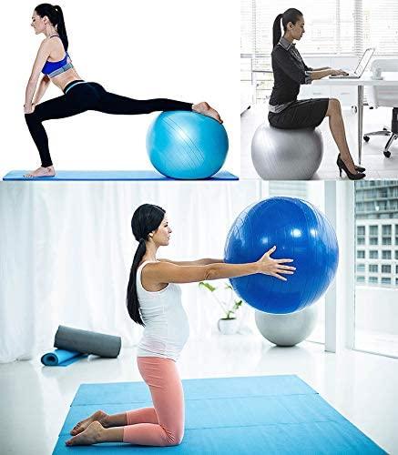 BalanceFrom Ballon d'exercice anti-éclatement et antidérapant avec pompe rapide, capacité de 0,9 kg