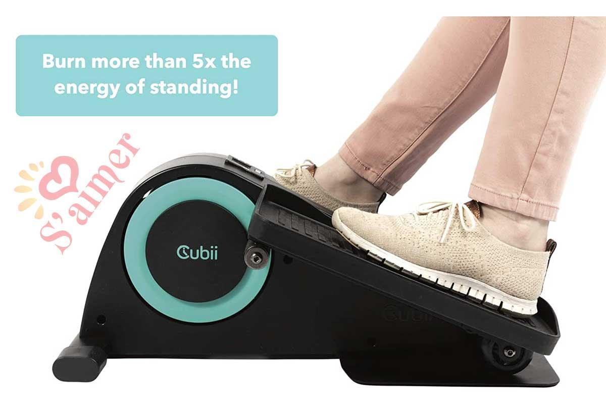 Cubii JR1 Appareil elliptique assis sous le bureau pour entraînement à la maison, mini elliptique, exercice de vélo de bureau