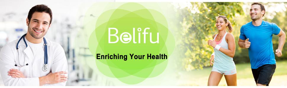 Belifu Appareil TENS EMS à double canal - 24 modes - Stimulateur musculaire pour soulager la douleur - Masseur électronique à pouls avec 10 coussinets