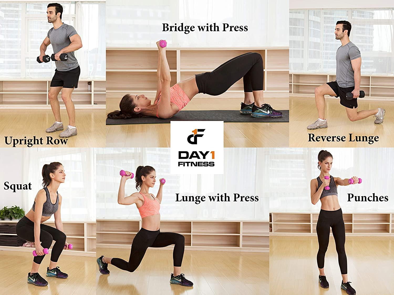 Paire d'haltères en néoprène de Day 1 Fitness - 12 options de poids